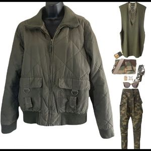 Old Navy green olives military jacket size L